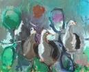Óleo sobre lienzo 114 x 146 cm 1999