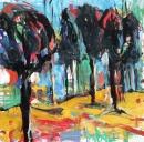 Óleo sobre lienzo 175 x 175 cm 2000